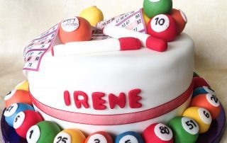 Personalised games birthday cake