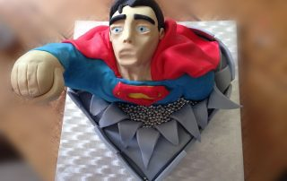 superman children personalised novelty cake